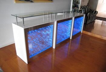 аквапанели встроенные в мебель