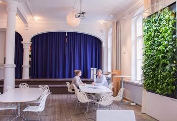 вертикальное озеленение в ресторане