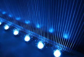 водопад по струне с подсветкой