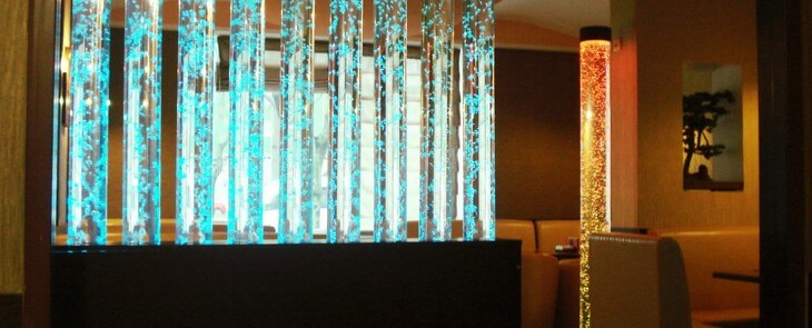 пузырьковые колонны в интерьере