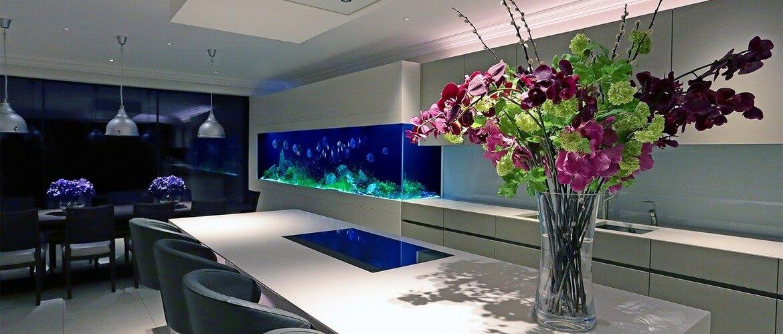 псевдоморской аквариум в частном доме